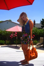 forever 21 vest - forever 21 dress - Anthropologie purse - Roxy shoes - Michael