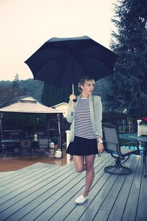 silver Zara blazer - blue roarte for target top - black Urban Outfitters skirt -