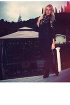 black Nordstrom jacket - black H&M pants - black H&M shoes - gold H&M accessorie