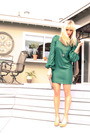 Green-elizabeth-and-james-dress-beige-nine-west-shoes-gold-thrift-accessorie