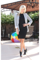 Zara dress - Zara blazer - Aldo shoes