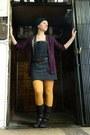 Dark-brown-zahra-boots-dark-gray-dress-yellow-dorothy-perkins-tights