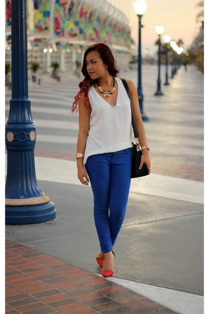 windsor heels - Galian bag - Angl blouse - Charlotte Russe pants