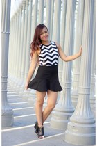Angl skirt - chevron crop Forever 21 top - Forever 21 heels