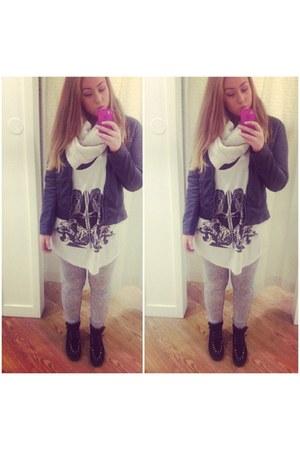 black platform Forever 21 shoes - silver tight soft H&M jeans