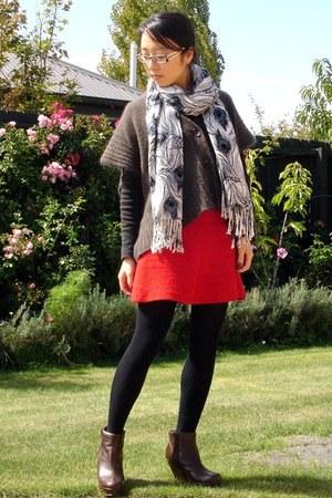 wool mix Zara cardigan - leather asos wedges
