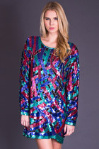 Vintage Jewel Tone Sequin Tunic