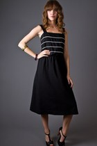 black telltale hearts vintage dress