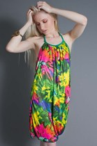 neon tie dye telltale hearts vintage dress