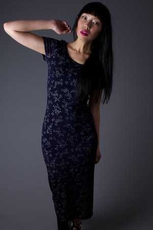 black telltale hearts vintage dress