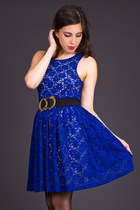 Audrey 3+1 Lace Party Dress in Shocking Blue
