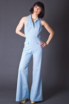 Vintage Chambray Halter Jumpsuit