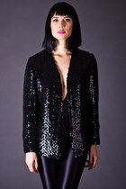 Vintage Sparkling Sequin Jacket in Black