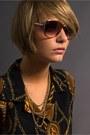 Dark-brown-christian-dior-sunglasses