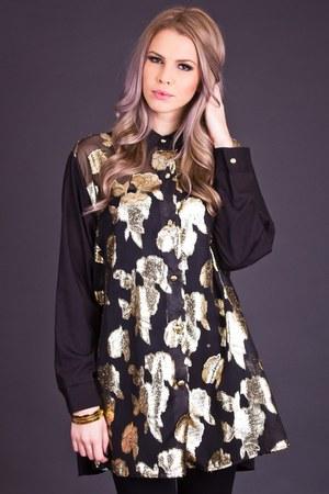 telltale hearts vintage blouse
