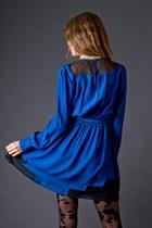 Blue Silk Blue Funktional Dresses