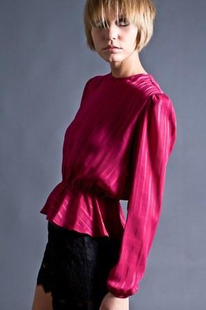 sheer peplum telltale hearts vintage blouse