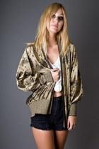 Gold-metallic-gold-telltale-hearts-vintage-cardigan