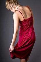 Maroon Burgandy Disco Telltale Hearts Vintage Dresses