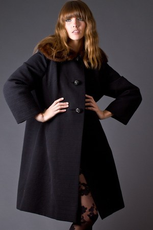 black telltale hearts vintage coat