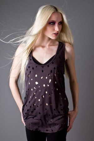 puce laser cut tank Something Else top