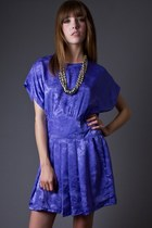 Vintage High Waist Mini Dress in Lavendar