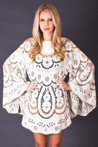 Vintage Angel Sleeve Tunic in Cream