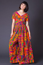 Vintage Psychedelic Palazzo Jumpsuit