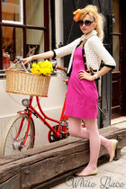 coca zaboloteanu shoes - Pinko dress - Primark sweater - thrifted vintage neckla