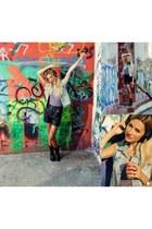 Eden Shoes boots - vintage shorts - Bershka bodysuit - Zara vest