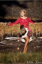 H&M cardigan - asos boots - asos dress - vintage bag
