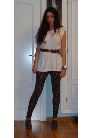 brown Mango leggings