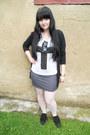 Black-dorothy-perkins-cardigan-white-offbrand-tights