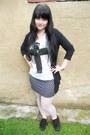 White-offbrand-tights-black-dorothy-perkins-cardigan-black-atmosphere-skirt