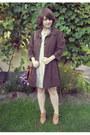 Beige-atmosphere-dress-dark-brown-orsay-coat-brown-satchel-h-m-bag