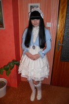 sky blue Bodyline cardigan - white Bodyline shoes - white Porcelain Doll socks