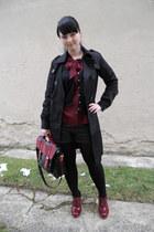 brick red New Yorker bag - black Orsay coat - black Gate tights