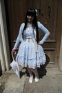White-bodyline-shoes-sky-blue-dear-celine-skirt-sky-blue-h-m-cardigan
