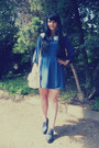 Navy-vero-moda-dress-white-oodji-bag-navy-offbrand-heels