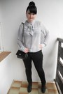Black-mudd-jeans-silver-new-yorker-shirt-black-thrifted-bag