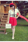Red-bowler-hat-h-m-hat-white-satchel-oodji-bag-red-polka-dot-handmade-skirt