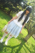 white Bodyline shoes - off white Bodyline bag - white Anna House blouse