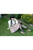 black Bodyline shoes - black Bodyline tights - cream Cheri-Alan blouse