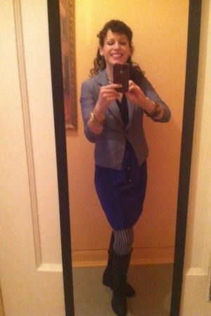 blue lightweight Express dress