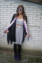 Topshop dress - H&M scarf - Topshop purse - Zara shoes