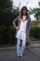 Zara top - Topshop jeans