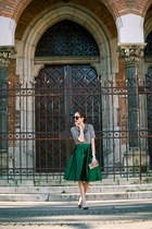Zara sweater - choiescom skirt - Zara pumps