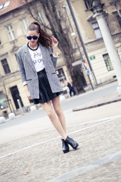Sheinside jacket - Zara t-shirt