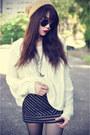 Leather-boots-knitted-sweater-round-sunglasses-lashesoflondon-skirt