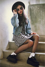 Creepers-shoes-vintage-motel-rocks-dress-oasap-hat-levis-jacket
